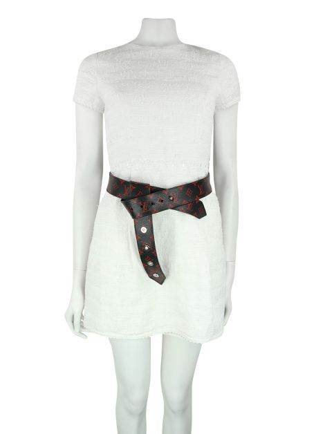 Cinto Louis Vuitton Tie The Knot Eyelets Belt Monograma