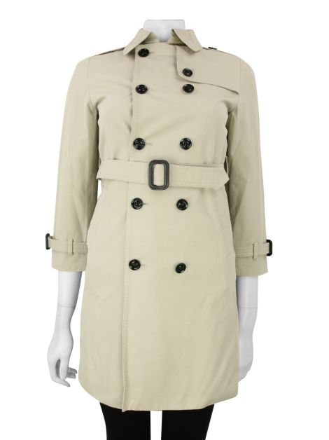 Trench Coat Burberry Cinza Claro Infantil