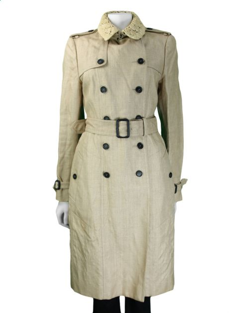 Trench Coat Burberry Palha Bege