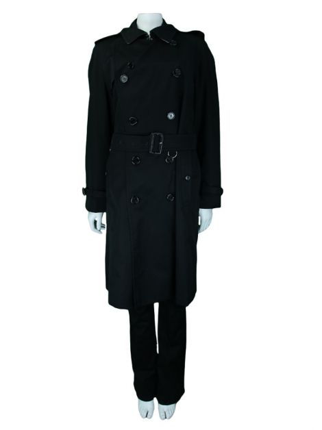 Trench Coat Burberry Sarja Preto