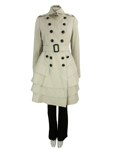 Trench Coat Burberry Tecido Creme