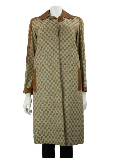 Trench Coat Gucci Jacquard GG Canvas