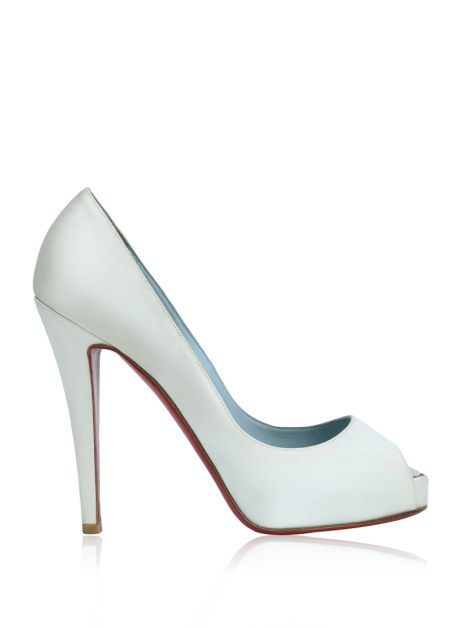 Sapato Christian Louboutin Very Privé 120 Off-White