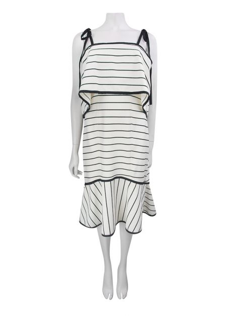 Vestido Animale Bandage Off-White