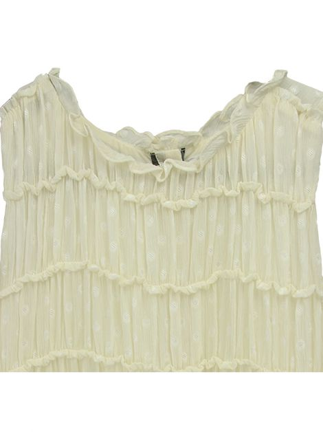 Vestido Burberry Infantil Off-White