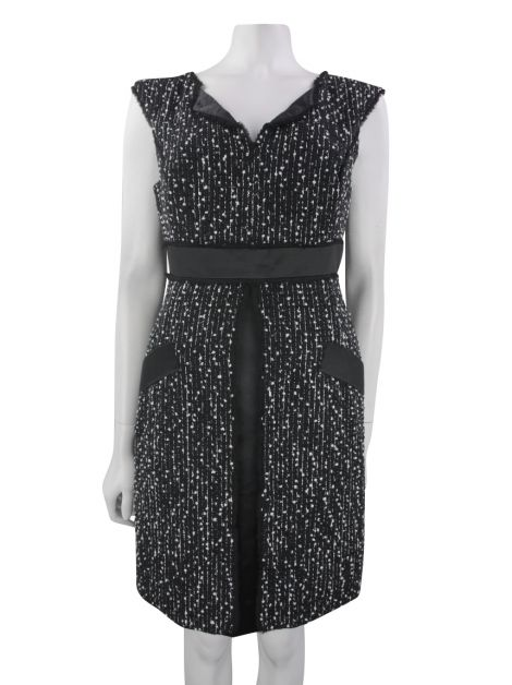 Vestido Carolina Herrera Tweed Bicolor