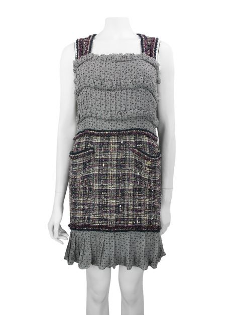 Vestido Chanel Tweed Multicolor