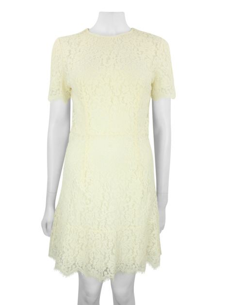Vestido Christian Dior Renda Off-White