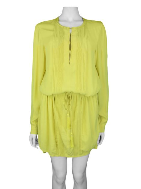 Vestido Diane Von Furstenberg Sliced Dress Verde