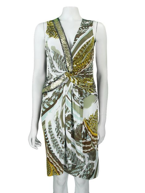 Vestido Emilio Pucci Regata Estampa Multicolor