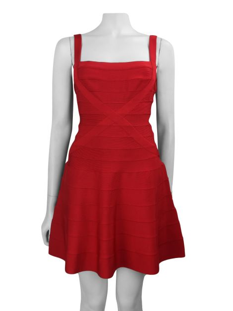 Vestido Hervé Léger Faith Lipstick Red