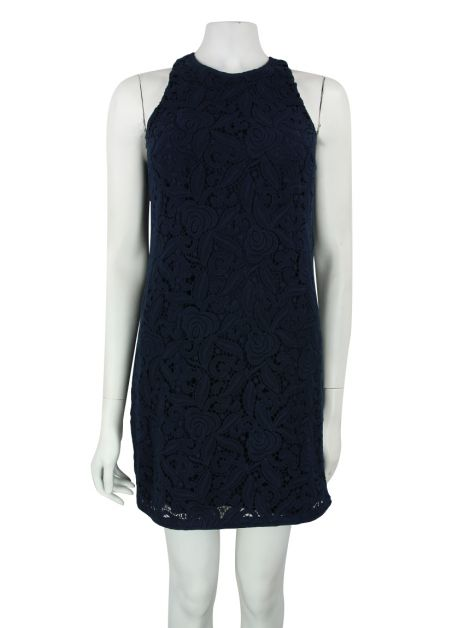 Vestido Juicy Couture Renda Azul