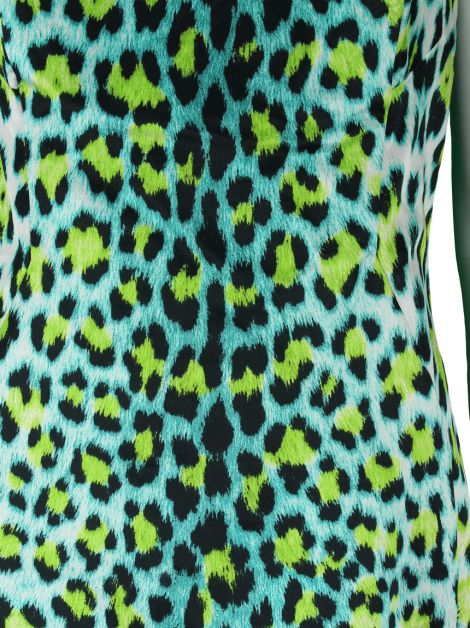 Vestido Just Cavalli Animal Print Verde