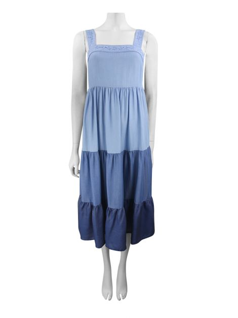 Vestido Kate Spade Midi Chambray Patio