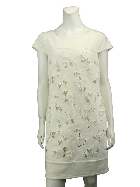 Vestido Laundry Flores Off White