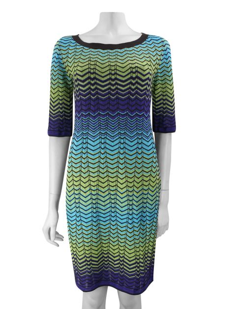 Vestido M Missoni Chevron Multicolor