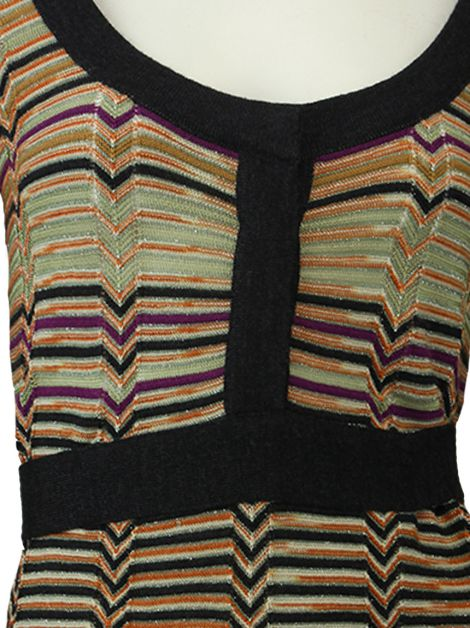 Vestido M Missoni Listrado Multicor