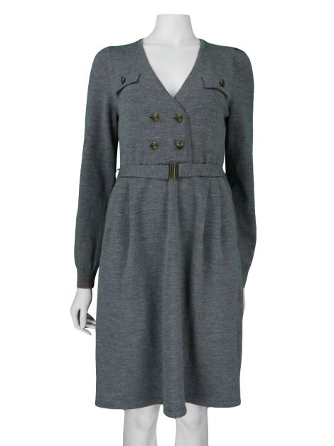 Vestido Marc By Marc Jacobs Tricot Cinza