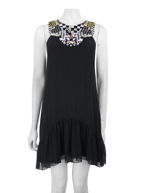 Vestido Matthew Williamson Bordado Preto