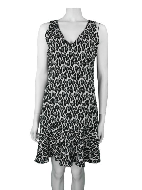 Vestido Mixed Gelo Animal Print