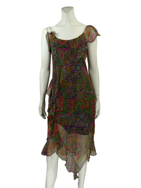 Vestido Mixed Collection Seda Estampado