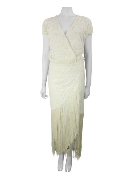 Vestido Mixed Renda Off White