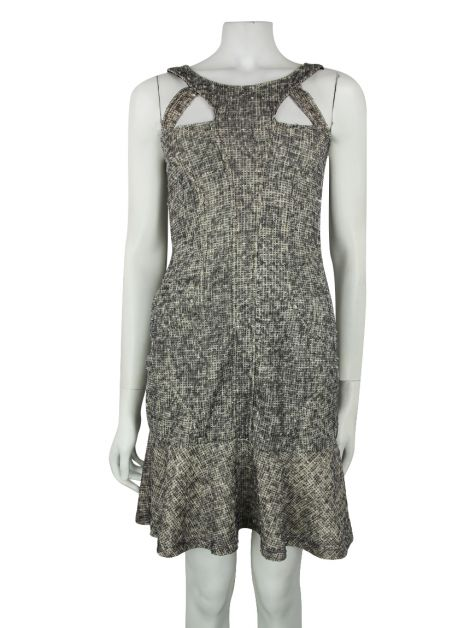 Vestido Mixed Tweed Neutro