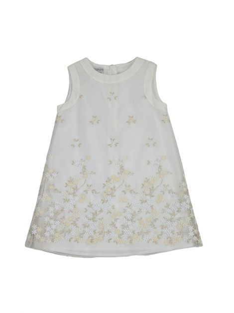 Vestido Pinco Pallino Off-White Bordado Infantil