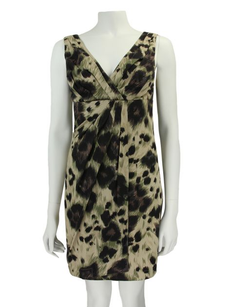 Vestido Red Valentino Estampado Leopardo