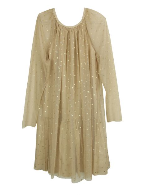 Vestido Stella McCartney Kids Misty Nude Infantil