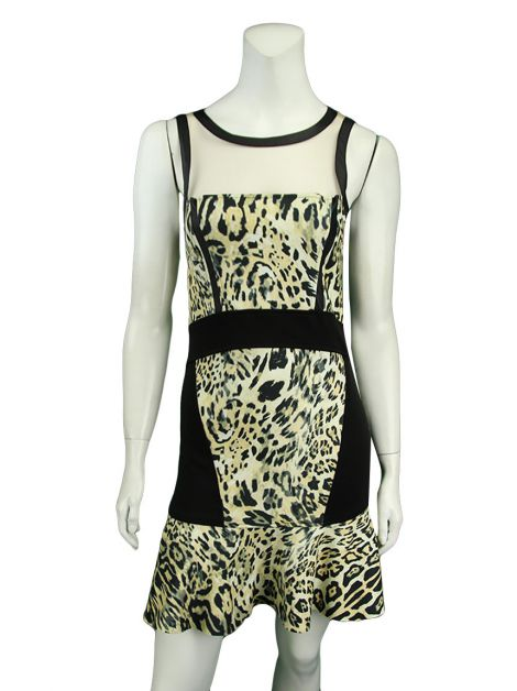 Vestido Thelure Tule Animal Print