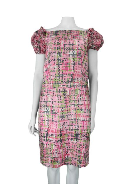 Vestido Yves Saint Laurent Estampado Rosa
