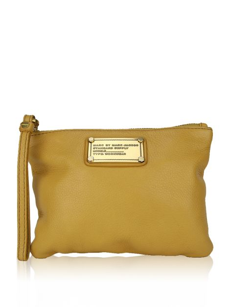 Wristlet Marc By Marc Jacobs Couro Amarela
