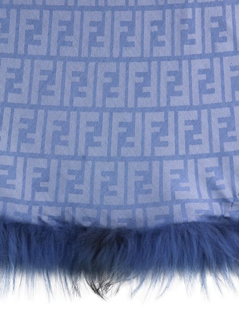 Xale Fendi Touch Of Fur Azul