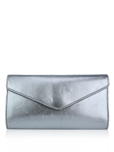 Clutch Yves Saint Laurent Y-Mail Prateada