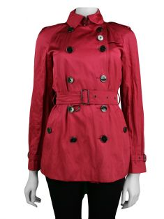 Trench Coat Burberry Tecido Rosa