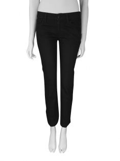 Calça Seven For All Mankind Straight Leg Preta