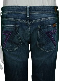 Calça Seven For All Mankind Jeans Reto Azul