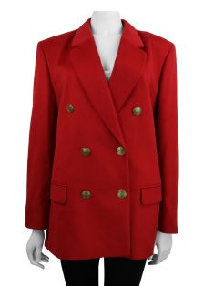 Blazer Saks Fifth Avenue Cashmere Collection Vermelho