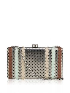 Clutch Stella McCartney Metal Prata
