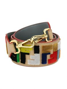 Alça Fendi Strap You Veludo Logo