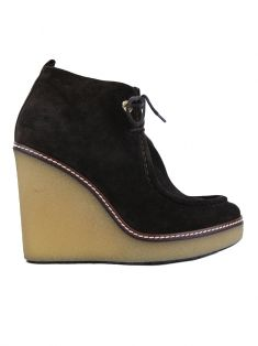 Ankle Boot Moncler Wedge Camurça Marrom