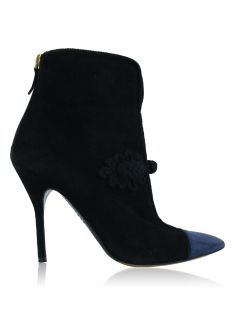 Ankle Boot Yves Saint Laurent Camurça Preto