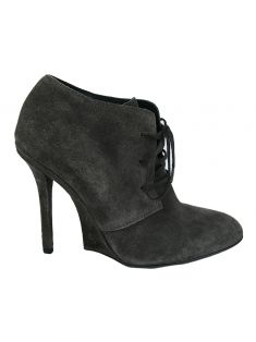 Ankle Boot Yves Saint Laurent Camurça Cinza