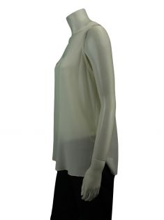 Blusa Cris Barros Regata Off White