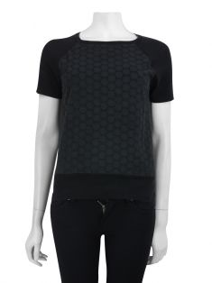 Blusa Mixed Renda Preto