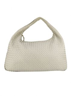 Bolsa Bottega Veneta Hobo Intrecciato Off-White