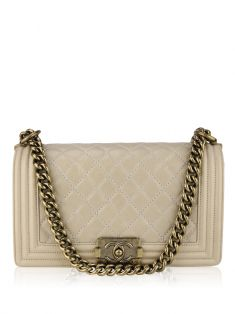 Bolsa Chanel Boy Old Medium Bege