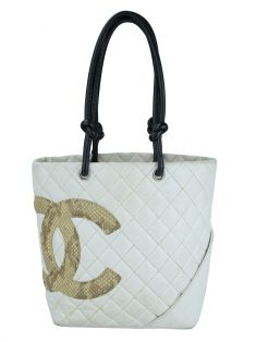 Bolsa Chanel Cambon Ligne Off-White
