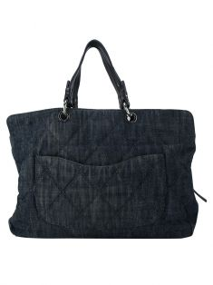 Bolsa Chanel Denim Grand Shopping Tote Jeans
